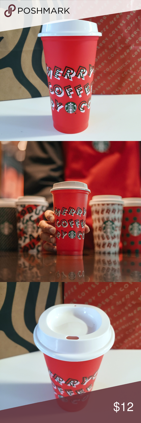 NEW Starbucks Holiday 2019 Reusable Hot Drink Cup NWT