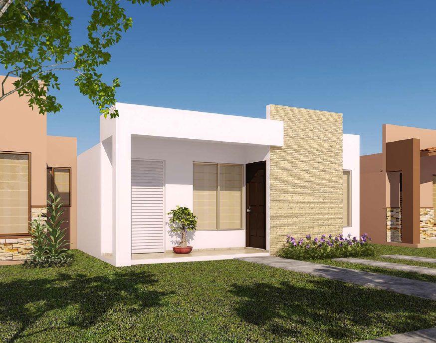 Fachadas de casas sencillas infonavit fachada de casa y for Casas modernas de una planta minimalistas