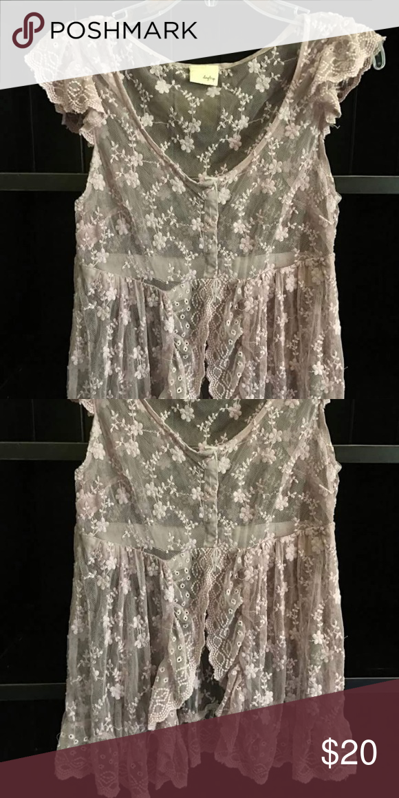Light purple cover/top NEVER WORN Lace top NEVER WORN Daytrip Tops