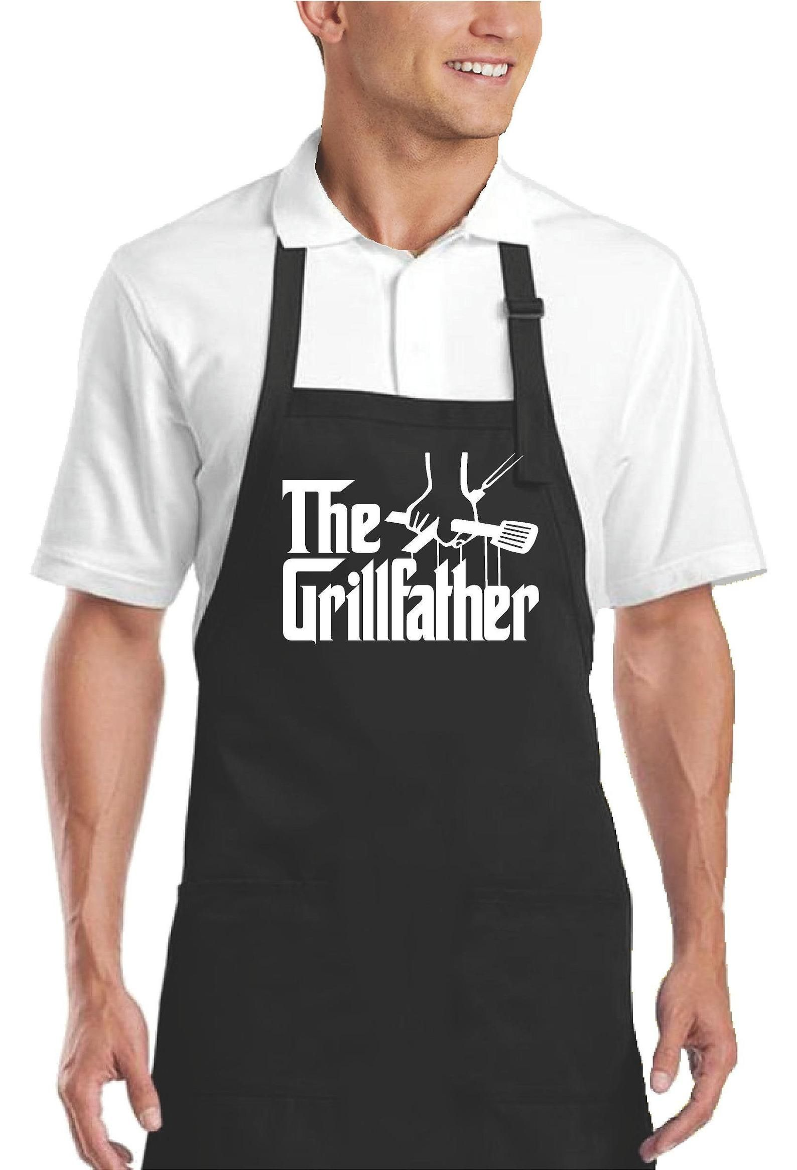 Aprons for Men Grilling Apron for Dad Funny Apron with | Etsy in