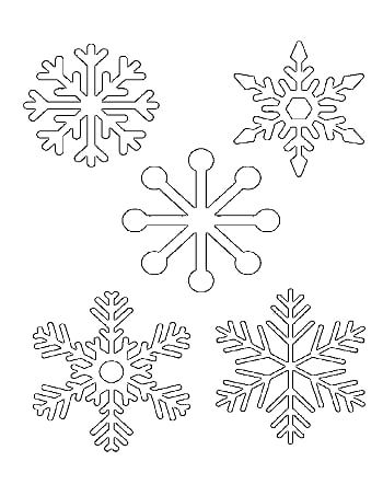 Snowflakes On One Page Pdf Onedrive Snowflake Coloring Pages Snowflake Template Printable Snowflake Template