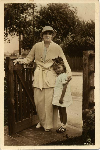 Postcard - Actress Gladys Cooper and Daughter Joan, dated 1916
