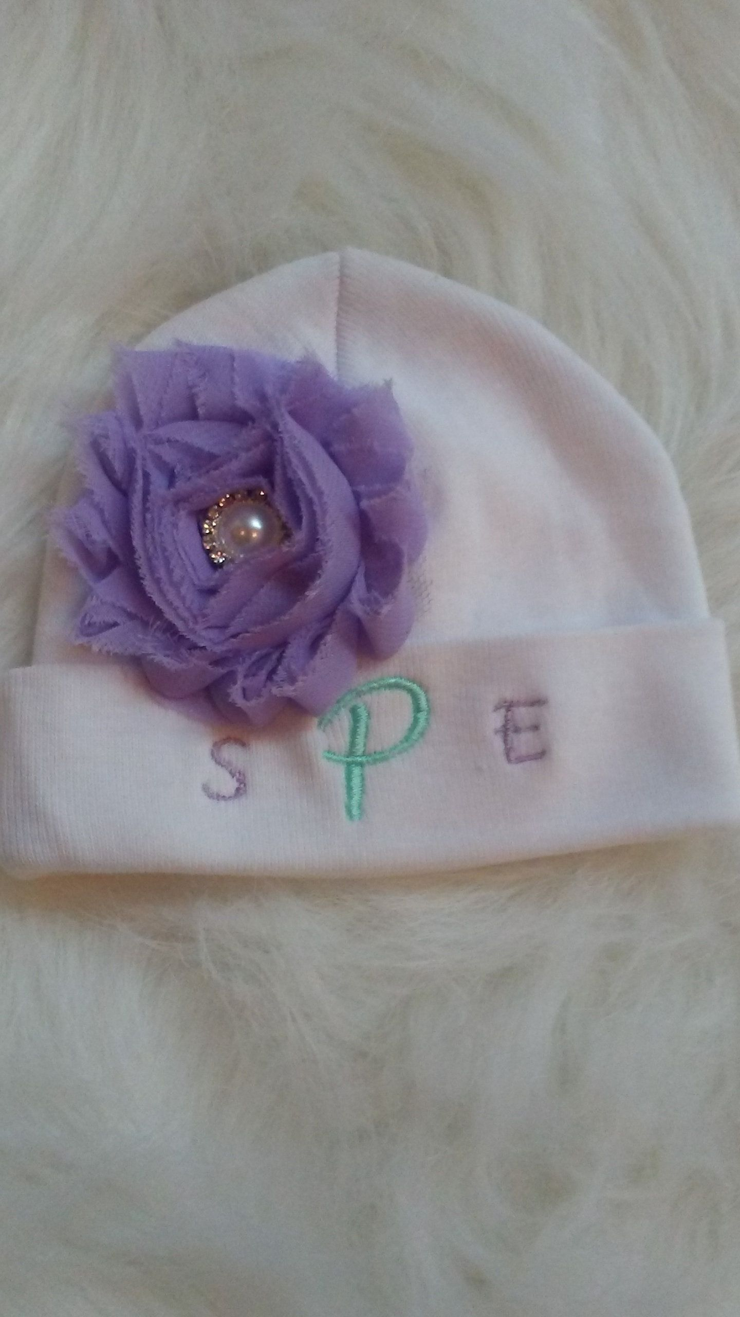 a06dd4faa4d Excited to share the latest addition to my  etsy shop  Baby Girl Beanie  Personalized Lavender Mint Personalized Baby Hat Personalized Baby Gifts  For Girl ...
