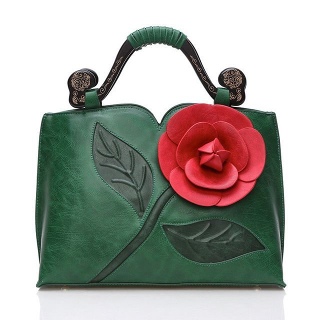 6df23544cd73 3D Flower Vintage Bag