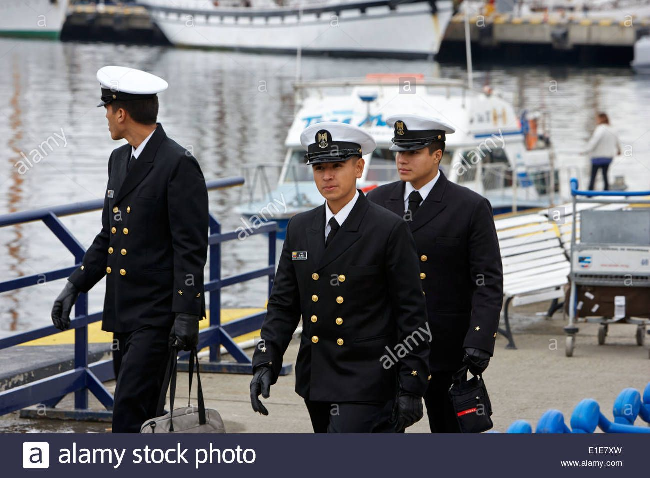 Download This Stock Image Colombian Navy Officer Cadets In Formal