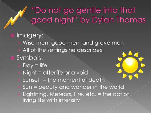 Do Not Go Gentle Into That Good Night Poem By Dylan Thoma Paraphrase