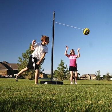 Entertain The Whole Family At Home With 10 Diy Lawn Games Tetherball Backyard Playground Playground