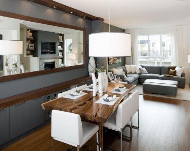 Salon avec salle à manger- 60 idées du0027aménagment Salons, Loft