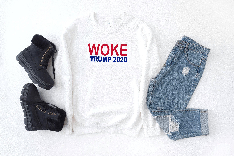 Short-Sleeve T-Shirt Black Donald Trump Woke