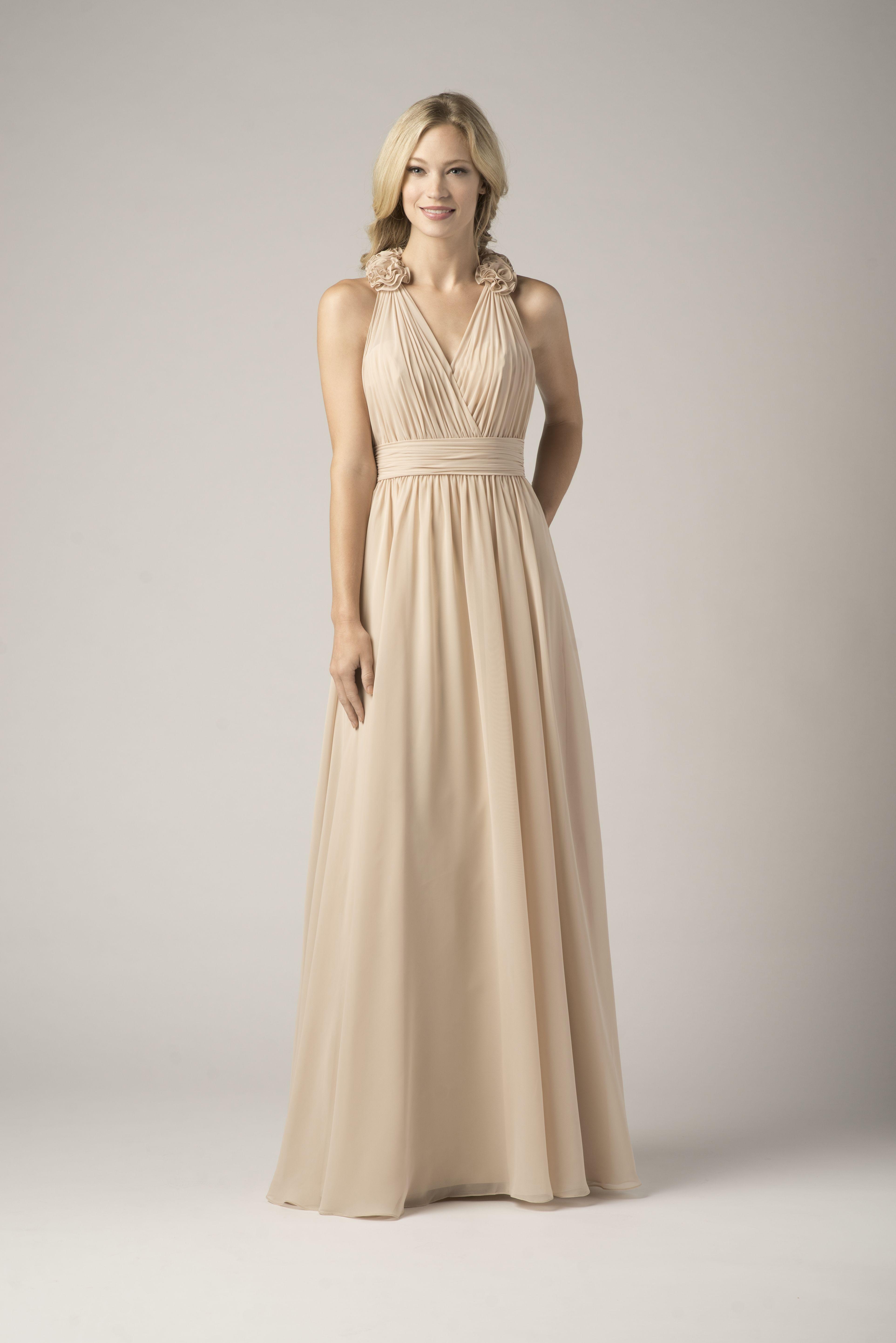 Wtoo Bridesmaid 804 In Cashmere Gorgeous Bridesmaid Dresses Floor Length Chiffon Bridesmaid Dresses Cheap Bridesmaid Dresses