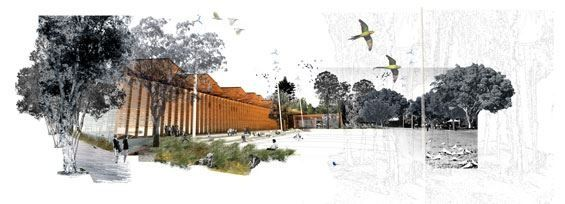 Figure Architecture Collage Art