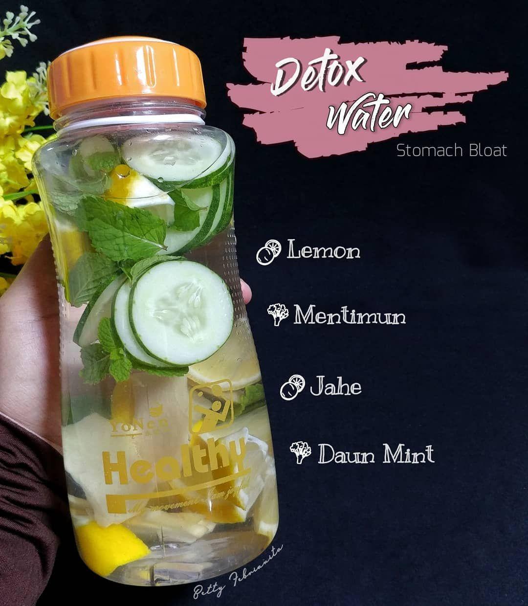 Bismillah Favorit Infused Water Di Perut Rasanya Enaak Banget Seger Dari Lemon Daun Mint Nya Berpadu Sama Rasa Hangat D Jus Detoks Resep Diet Diet Detoks