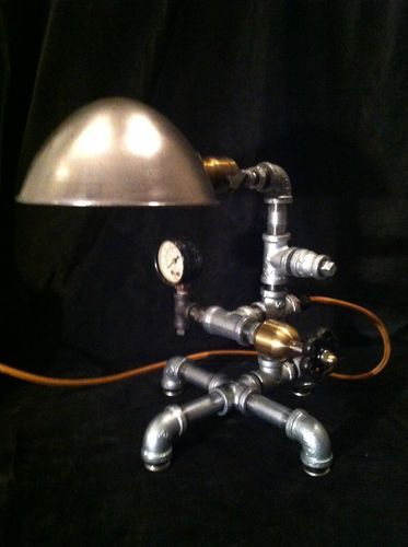Best Steampunk Lamp Nyc Desk Vintage One Of A Kind Light Fixture Ebay
