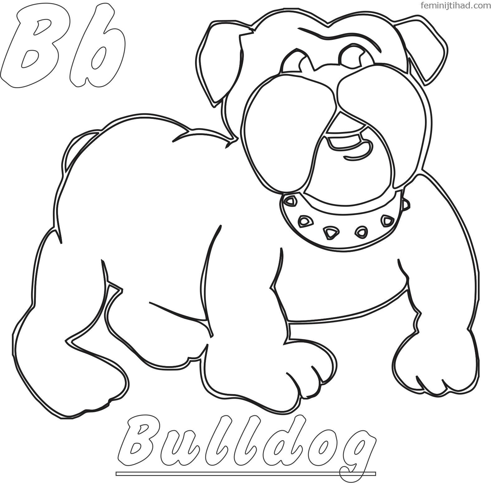 Bulldog Coloring Pages Printable Animal coloring pages