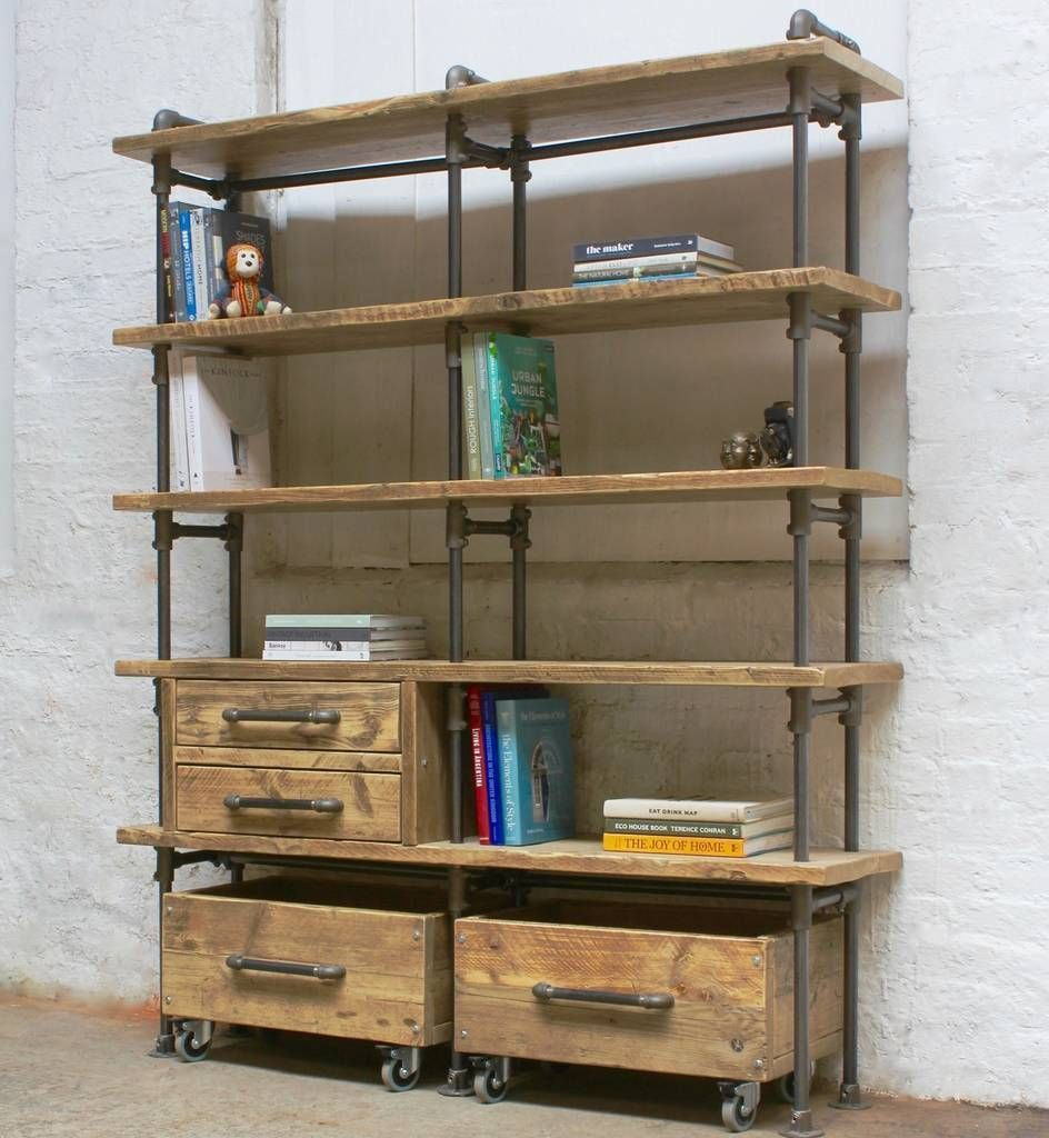 Ana Maria bookcase with integrated drawer units#ana #bookcase #drawer #integrated #maria #units