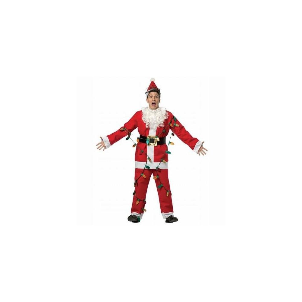 National Lampoon/'s Christmas Vacation Light-Up Men/'s Santa Suit