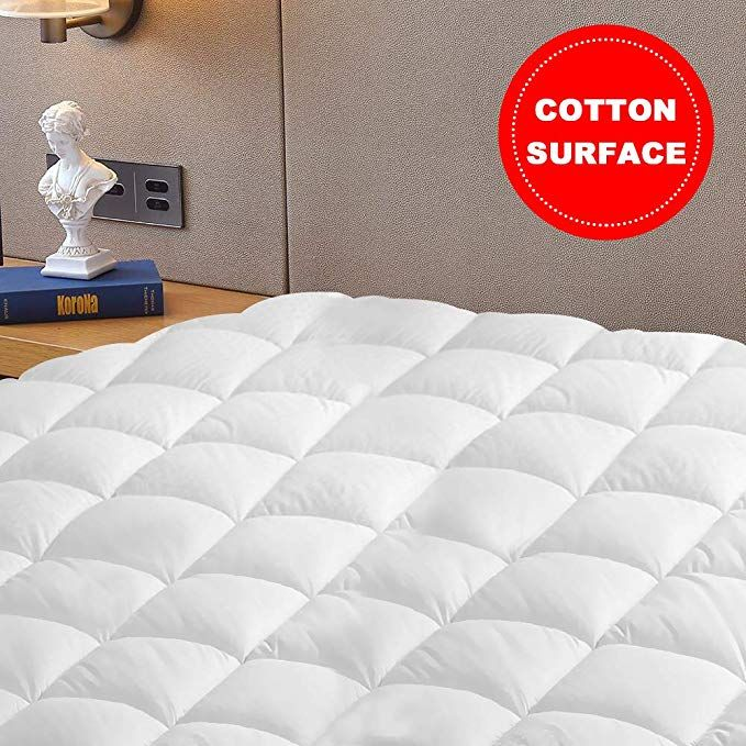 Vekkia Twin Mattress Pad Cover Quilted Fitted