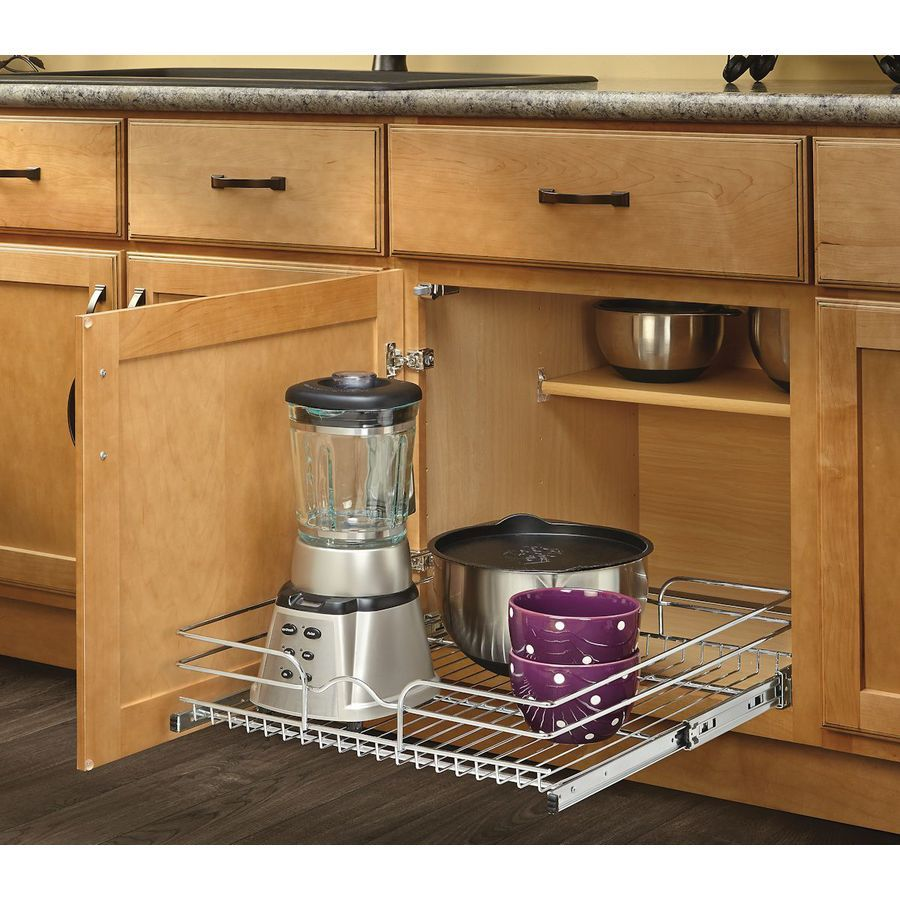 Rev A Shelf 19 In H X 14 75 In W X 22 In D Base Cabinet: Shop Rev-A-Shelf 20.5-in W X 22-in D X 7-in H 1-Tier Metal