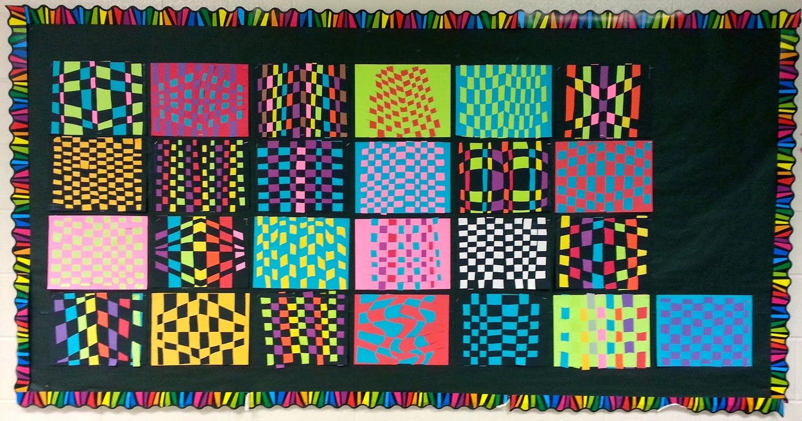 Art With Ms Gram Op Art Paper Weaving Display