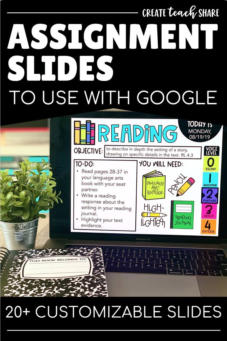 Assignment Slides Use With Google Slides Includes