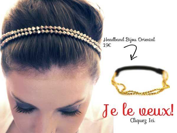 8c87f99566a Où acheter un headband chaîne doré chic et mode mais aussi pas cher. Chez accessoires  cheveux chic une sélection de bijoux de tête doré ultra tendance.