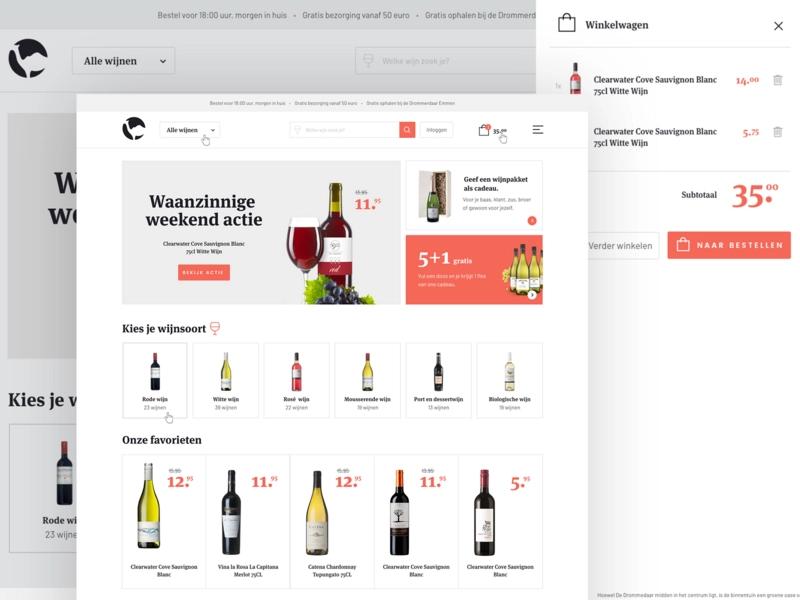 Wine Shop E Commerce Design