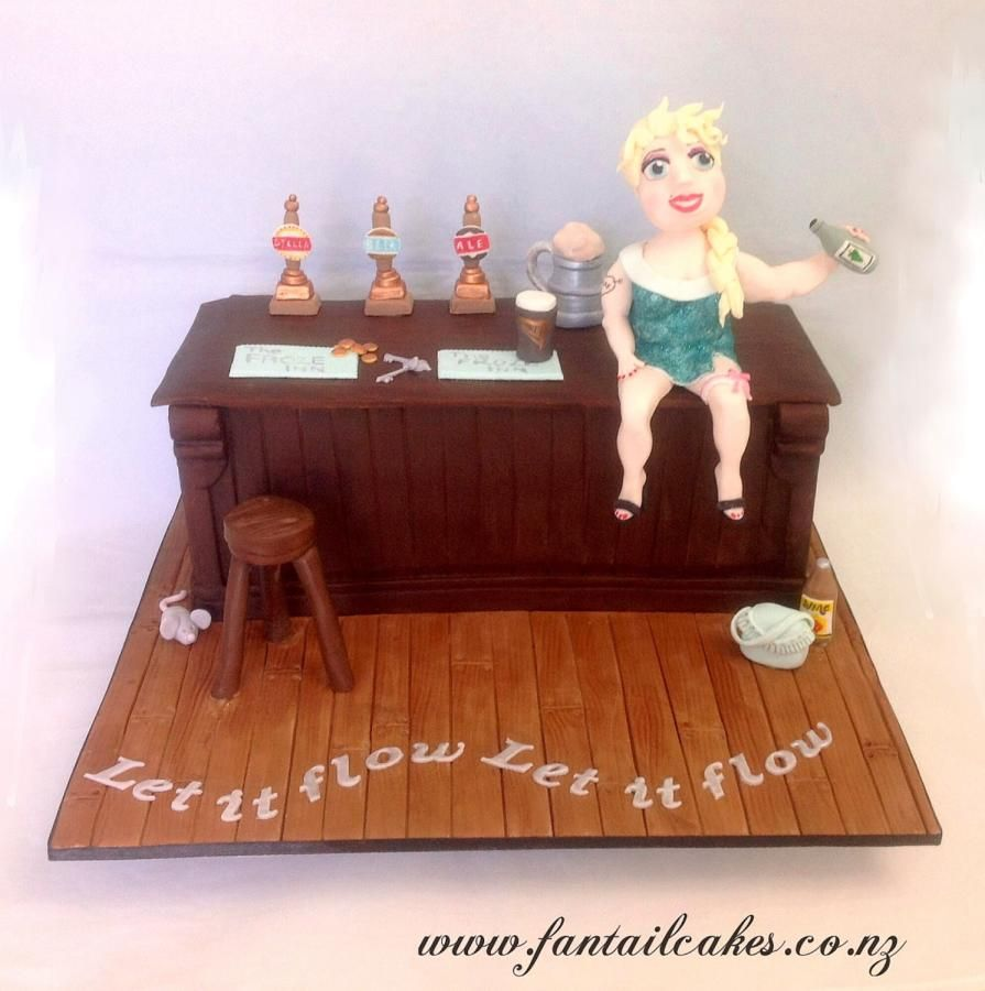 Bad Elsa Let It Flow Cake by Fantail Cakes cake decorating