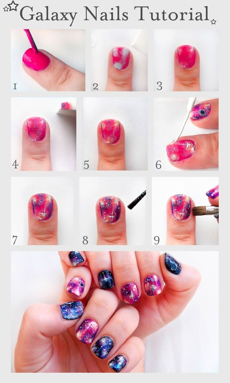 Galaxy Nails Tutorial Galaxy Nails Tutorial Diy Nail Designs Diy Nails