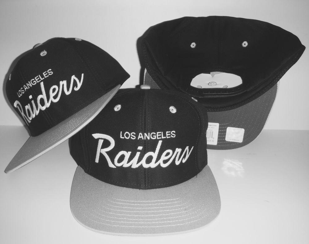 Los Angeles Raiders Script Snapback New Authentic La Hat Oakland Cap Ebay Raiders Hats Oakland