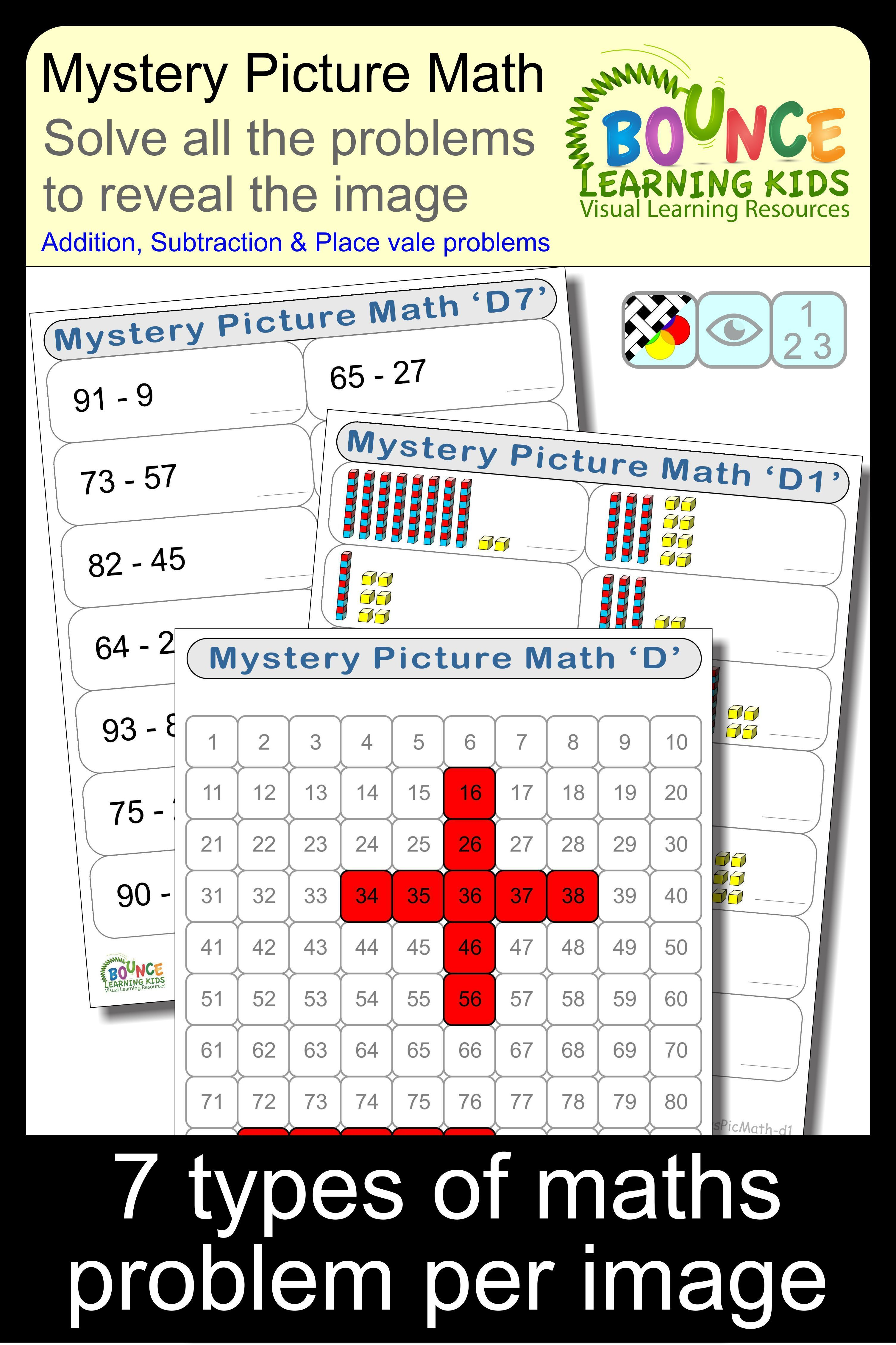 Mystery Picture Math D Distance Learning Worksheets For