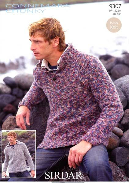 free knitting patterns for mens chunky sweaters - Google Search ...