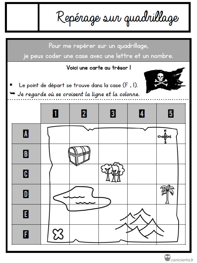 se repérer sur une carte ce2 CE1/CE2 • Mathématiques • Leçons à manipuler ~ | Math, Words, School