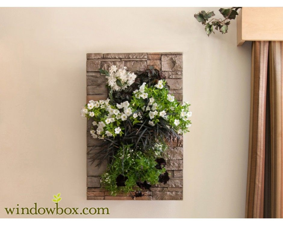 Wall Planters Indoor Amazing Design WithIndoor Living Kit With Modern Frame Stacked Stone