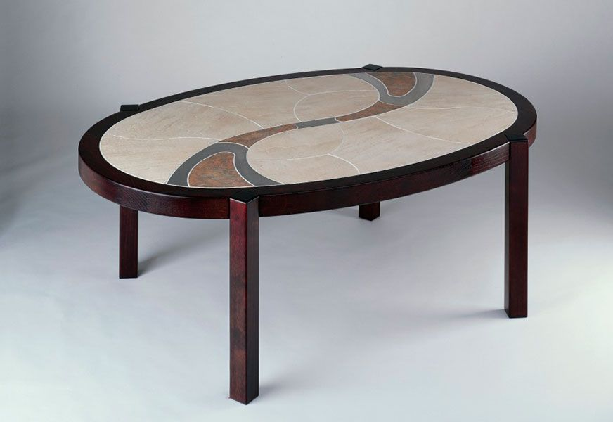 3200 Haslev Mobelfabrik 32 x 54 Manufactured in Denmark with solid teak, oak or beech.  Shown in oak with rosewood stain. Can be either dining or coffee table height.