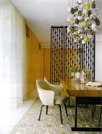 Mid century dining room room divider