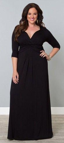 Plus Size Black Desert Rain Maxi Dress