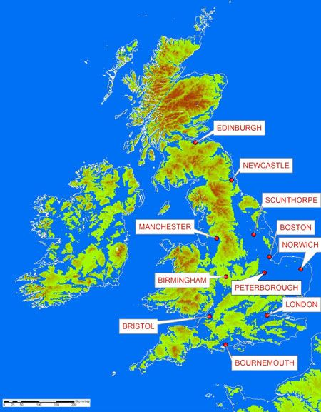 Map Of Uk If Sea Levels Rise.Great Britain And Ireland If All The World S Ice Melted Things