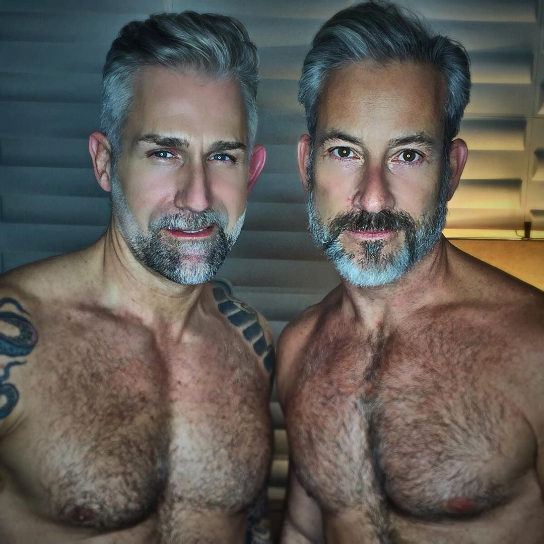 Silver hair gay men