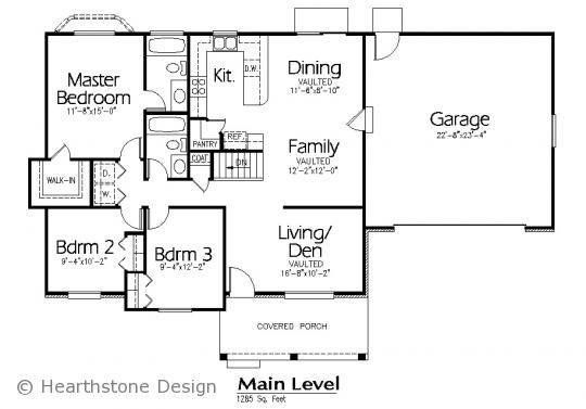 Plans Details :: Plan #R-1285a - Hearthstone Home Design | House ...
