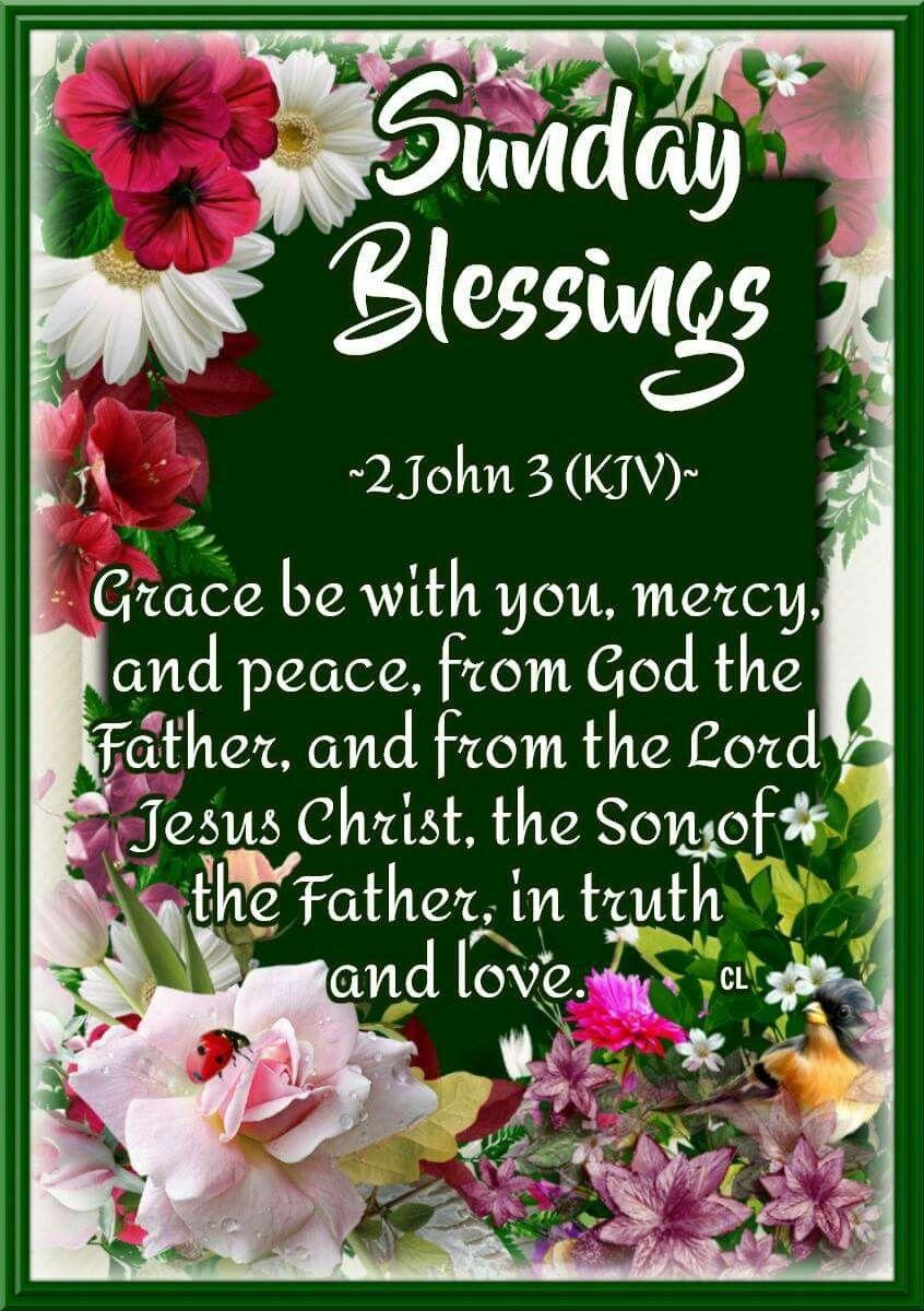 2 John:3 KJV Sunday Blessings! | Happy sunday quotes, Sunday prayer, Sunday  quotes