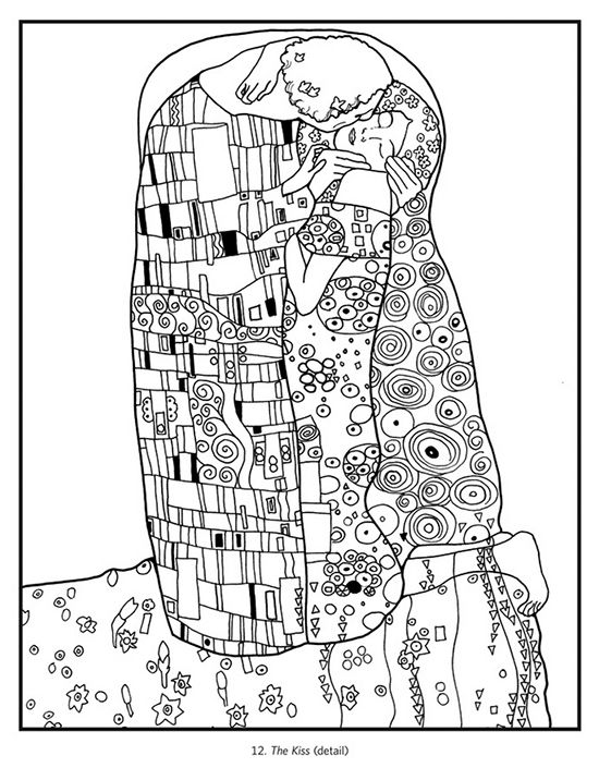 Gustav Klimt Coloring Book The Artists Road Store Mne Nravitsya