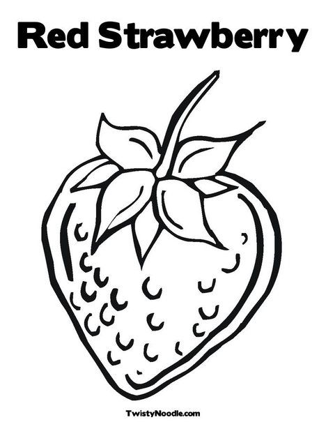- Red Strawberry Coloring Page Coloring Pages, Bible Crafts, Sunday School  Crafts