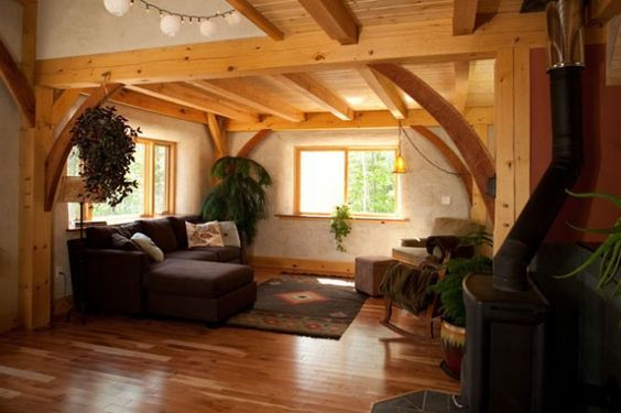 timber frame straw bale house House Ideas in 2019