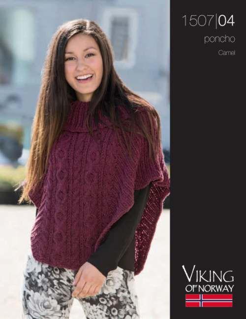 Camel Cabled Poncho Knitting Pattern Free | Knitting patterns free ...