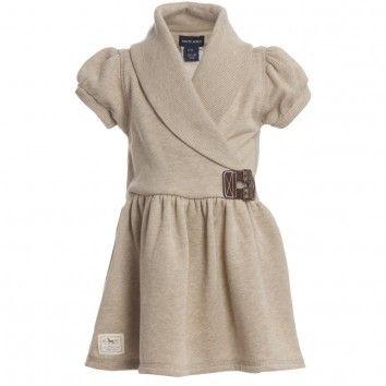 Ralph Lauren Beige Knitted Dress at Childrensalon.com