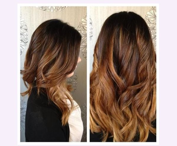 Top Extensions de cheveux tie and dye chocolat ombré miel. Cheveux  LX25