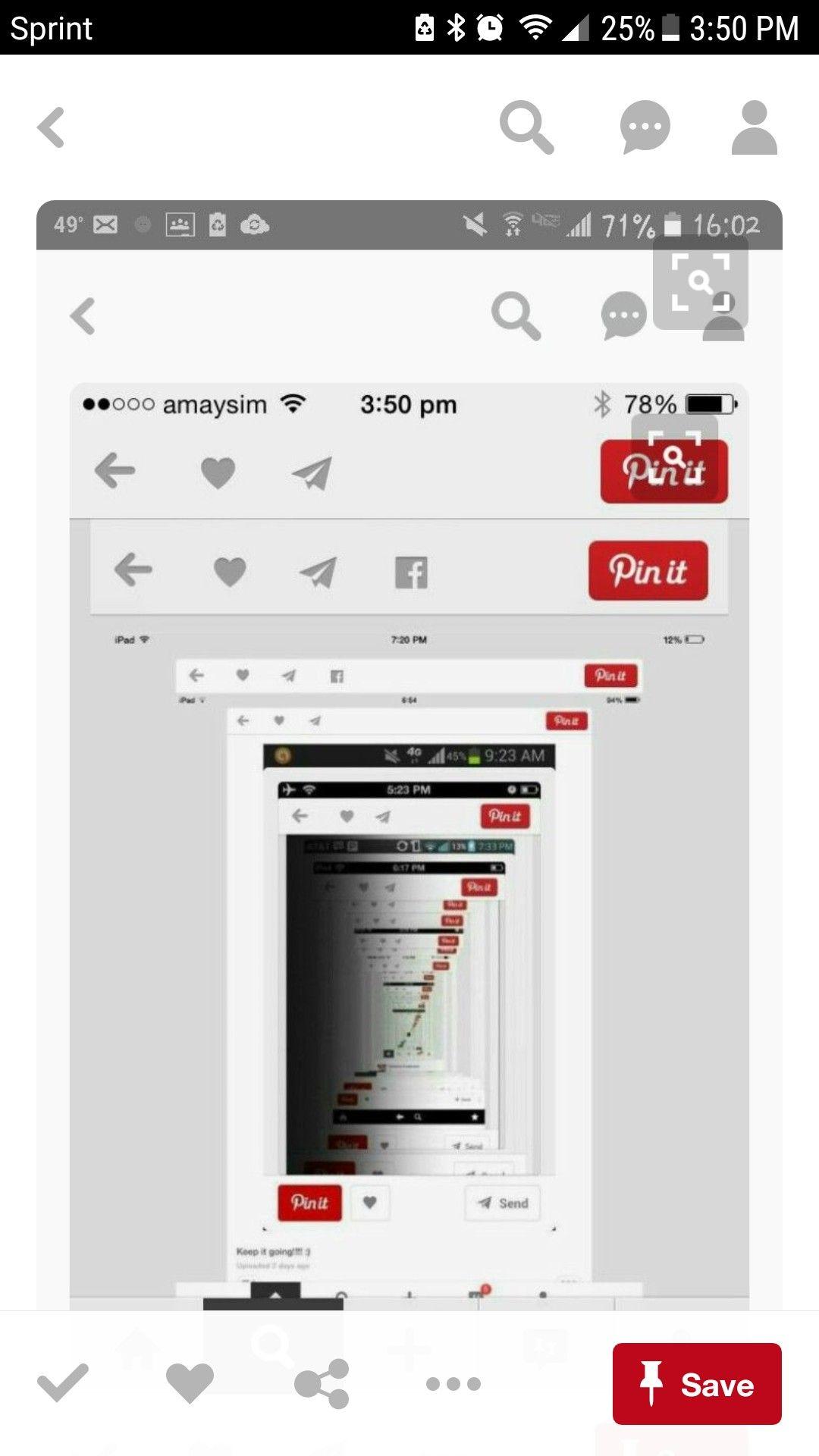 Screenshot and pin