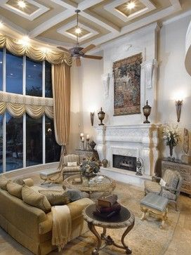 Draperieswindow Treatments  Traditional  Living Room  Miami New Living Room Miami Decorating Design