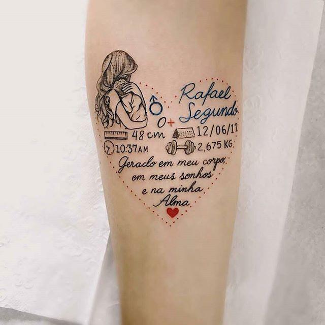 Tattoo Designs Bebe Bapu: Tattoo Personalizada • Homenagem Ao Filho • Feita Pelo