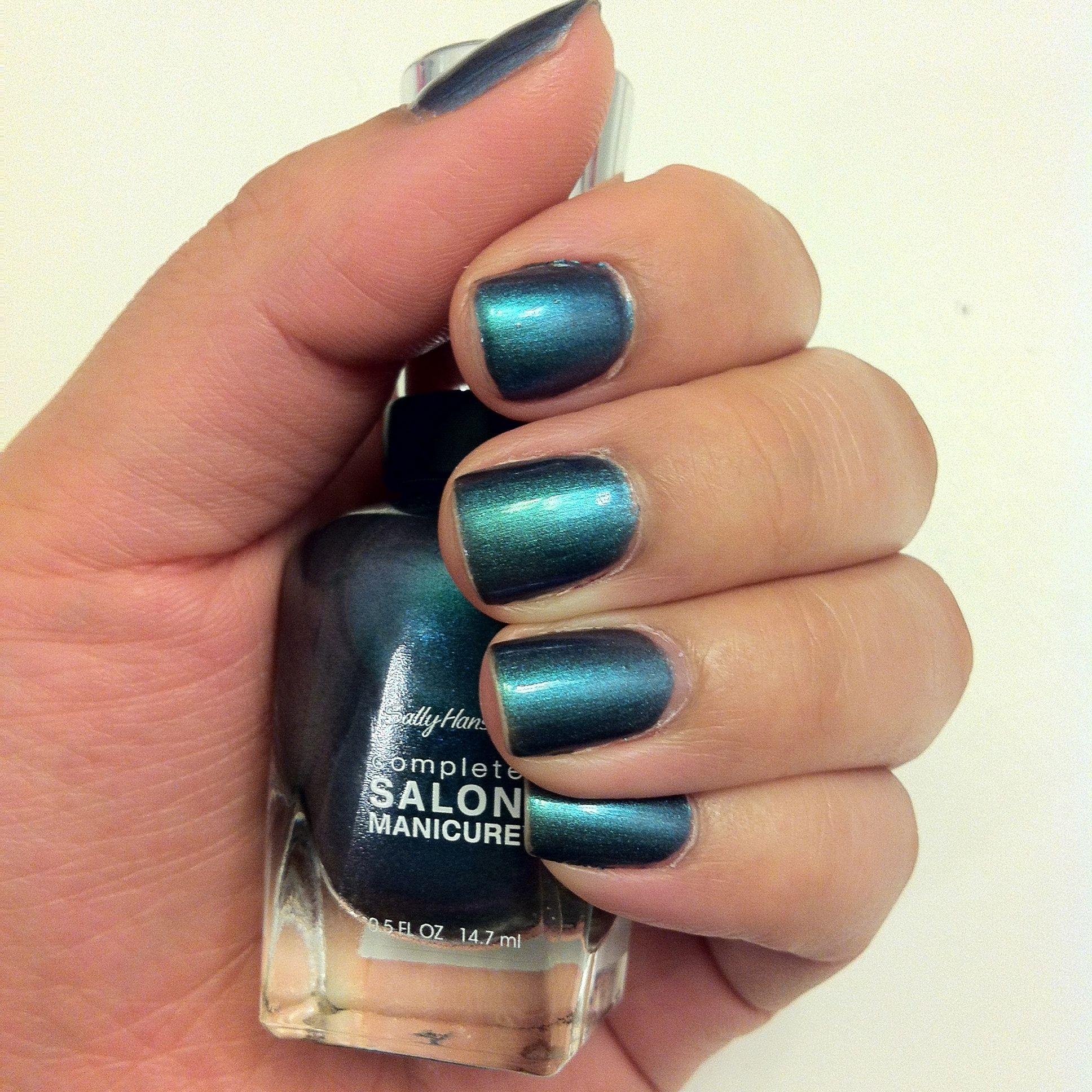 sally Hansen 580 black and blue